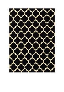 Geo Tiles Black Area Rug 2'3\