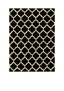 Geo Tiles Black Area Rug 3'6\