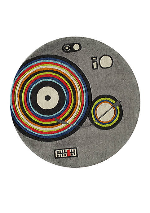 Lil Mo Hipster DJ Area Rug 5 Round