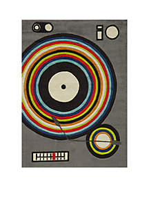 Lil Mo Hipster DJ Area Rug 7' x 5'