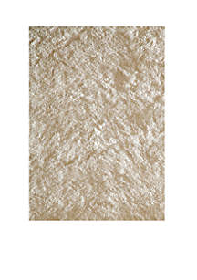 Luster Shag Solid White Area Rug 2' x 3'
