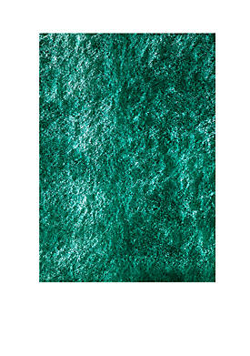 Luster Shag Solid Teal Area Rug 2 x 3