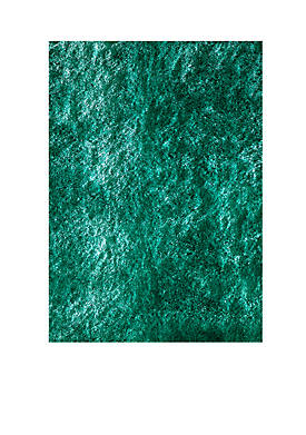 """Luster Shag Solid Teal Area Rug 23"""" x 8"""