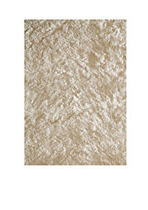 Luster Shag Solid White Area Rug 3' x 5'