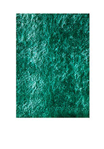 Luster Shag Solid Teal Area Rug 3' x 5'