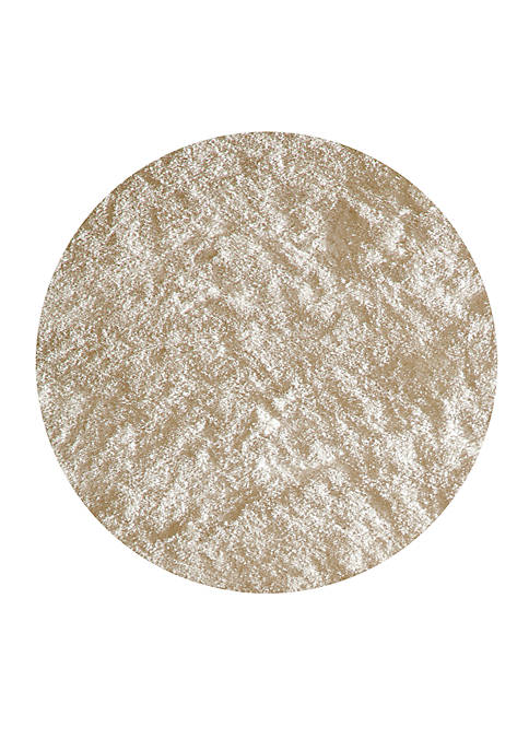 Luster Shag Solid White Area Rug 4 Round