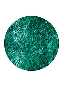 Luster Shag Solid Teal Area Rug