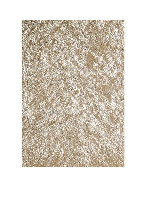 Luster Shag Solid White Area Rug 5 x 7