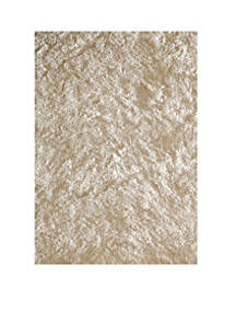 Luster Shag Solid White Area Rug 5' x 7'