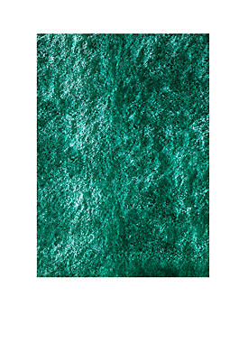 Luster Shag Solid Teal Area Rug 5 x 7