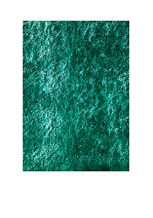 Luster Shag Solid Teal Area Rug 5' x 7'