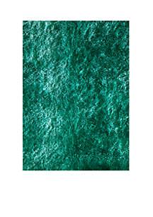 Momeni Luster Shag Solid Teal Area Rug 5' x 7'