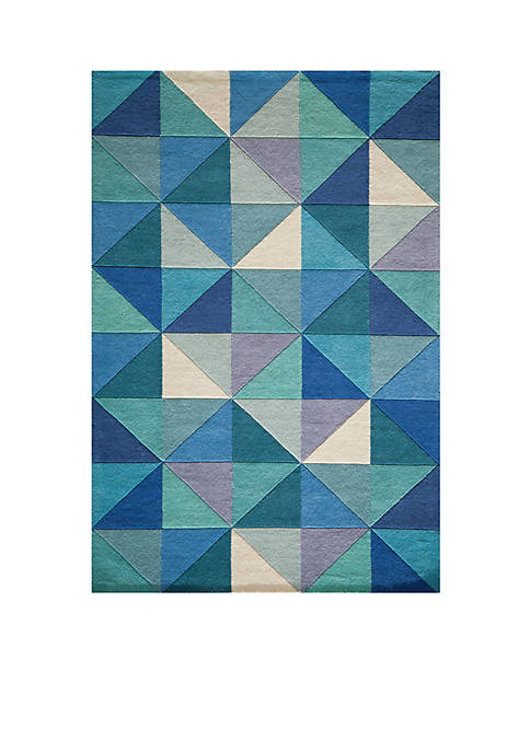 "Momeni Delhi Diamonds Blue Area Rug 36"" x"