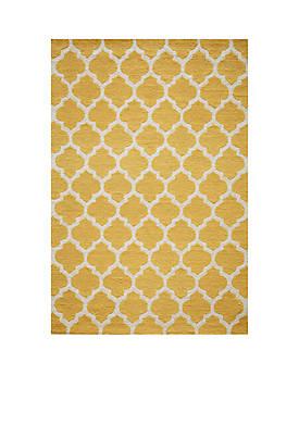 Geo Tiles Yellow Area Rug 2 x 3