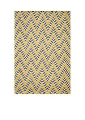 Geo Waves Gold Area Rug 2 x 3