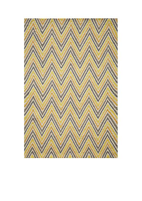 Momeni Geo Waves Gold Area Rug 2 x