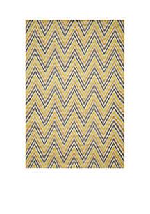 Momeni Geo Waves Gold Area Rug 2' x 3'