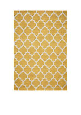 """Geo Tiles Yellow Area Rug 23"""" x 76"""""""