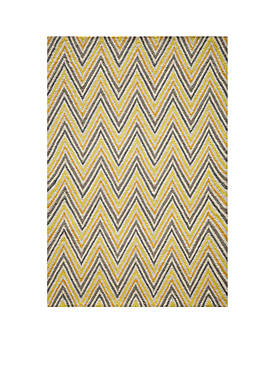 "Geo Waves Gold Area Rug 23"" x 76"""