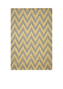 Geo Waves Gold Area Rug