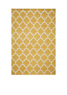 """Geo Tiles Yellow Area Rug 36"""" x 56"""""""