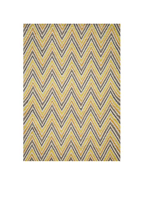 "Momeni Geo Waves Gold Area Rug 36"" x"