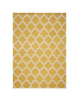 Geo Tiles Yellow Area Rug 5 x 7