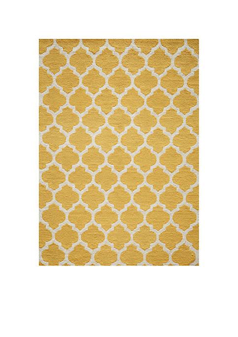 Momeni Geo Tiles Yellow Area Rug 5 x