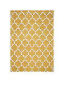 Geo Tiles Yellow Area Rug 5' x 7'