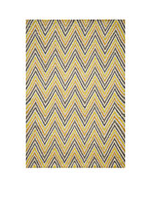 Geo Waves Gold Area Rug 5' x 7'