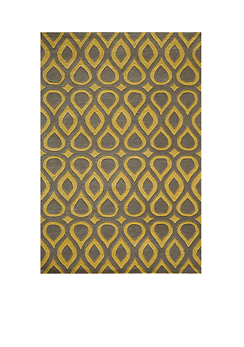 "Momeni Delhi Teardrops Gray Area Rug 36"" x"