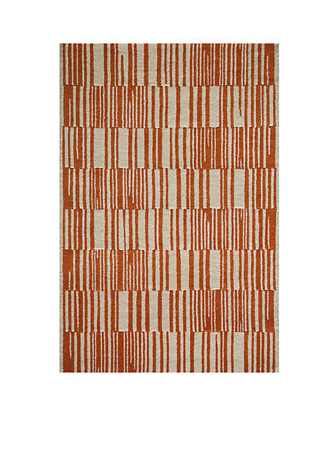 "Momeni Delhi Stripes Orange Area Rug 36"" x"