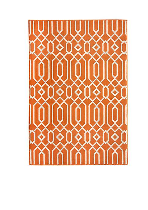 "Momeni Baja Crown Orange Area Rug 23"" x"