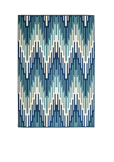 "Momeni Baja Wave Blue Area Rug 23"" x"
