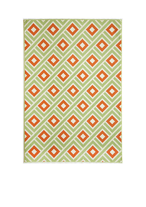 "Momeni Baja Square Green Area Rug 23"" x"