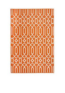 """Baja Crown Orange Rug 53"""" x 76"""""""