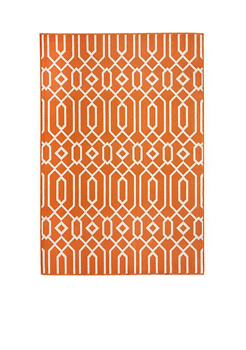 "Momeni Baja Crown Orange Rug 53"" x 76"""