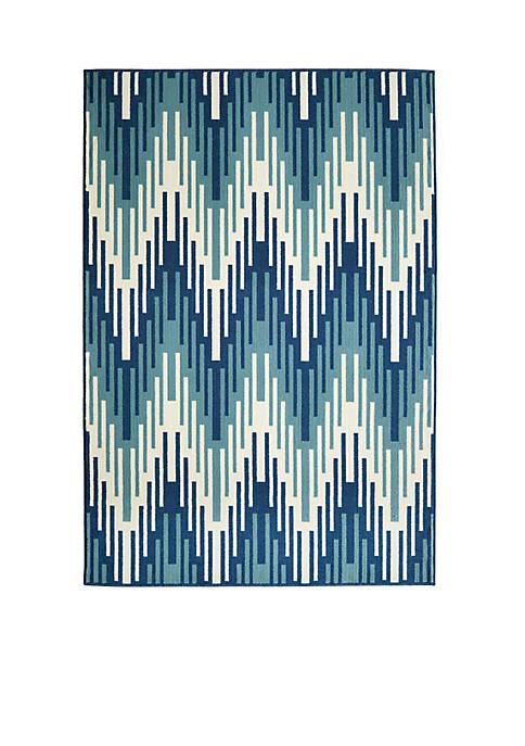 """Momeni Baja Waves Blue Area Rug 53"""" x"""