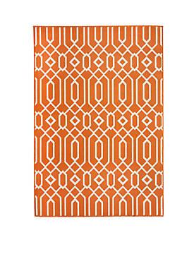 """Baja Crown Orange Rug 710"""" x 1010"""""""