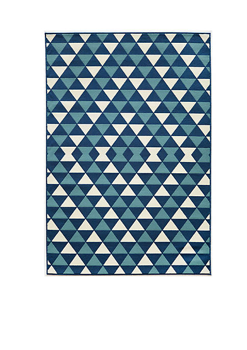 Momeni Baja Small Triangles Blue Area Rug 710