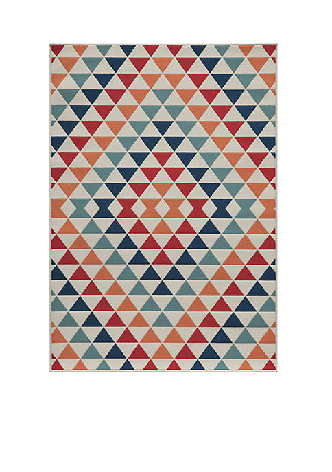 Momeni Baja Small Triangles Multi Area Rug 710""
