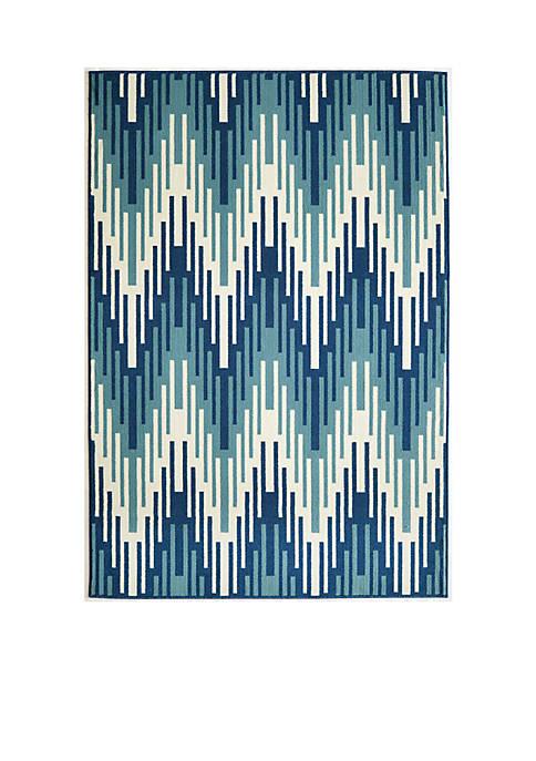 """Momeni Baja Waves Blue Area Rug 710"""" x"""
