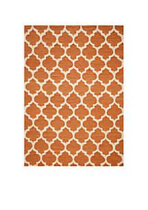 Geo Tiles Pumpkin Area Rug 3'6\