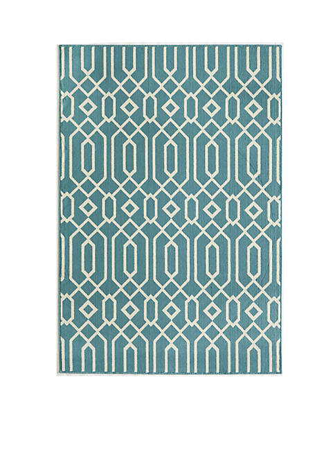 Momeni Baja Crown Blue Area Rug
