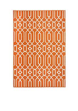 1 ft 8 in x 3 ft x 7 in Baja Crown Orange Area Rug