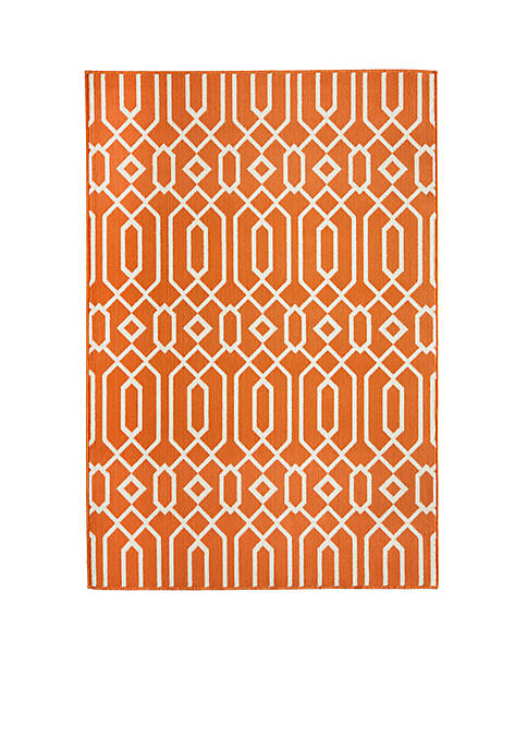 "Momeni Baja Crown Orange Area Rug 23"" x"