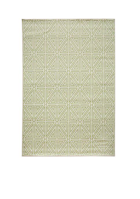 "Momeni Baja Maze Green Area Rug 23"" x"