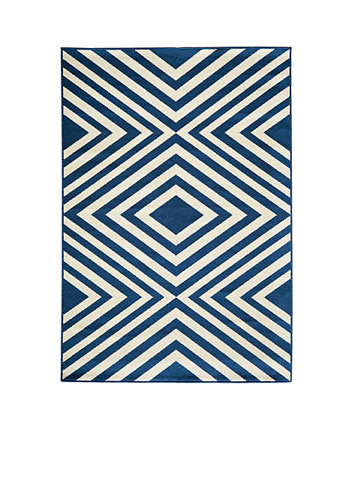 "Momeni Baja Diamond Navy Rug 67"" x 96"""