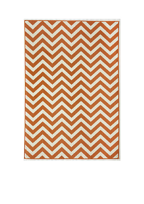 "Baja Zig-Zag Orange Area Rug 18"" x 37"""