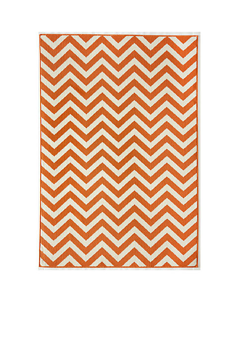 "Baja Zig-Zag Orange Area Rug 23"" x 76"""